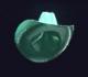 Reinforced Cyan Cowboy Hat
