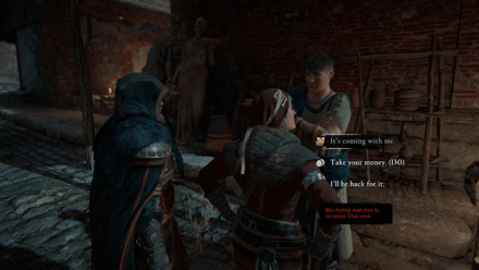 A Rivalry for the Ages - Find and talk to Maximilian about the legionnaire statue.png