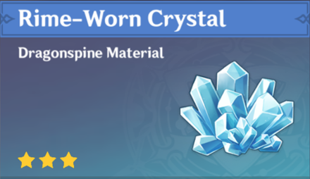 How to Get Rime-Worn Crystal and Effects
