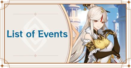 Genshin Impact - List of Events