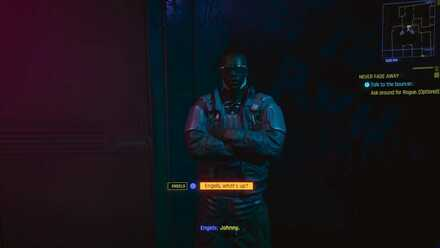 Cyberpunk 2077 - Talk to the bouncer