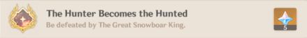 Achievement - Hunter Becomes the Hunted