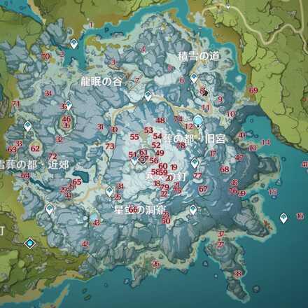 Genshin - Crimson Agate Map