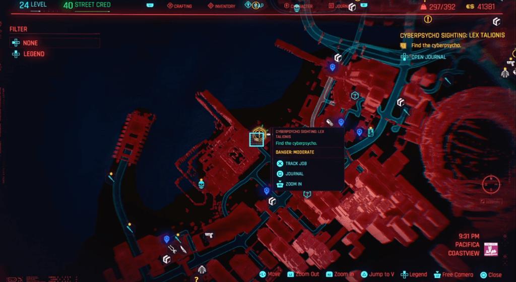 Cyberpunk 2077 Cyberpsycho Sighting Lex Talionis Map.png