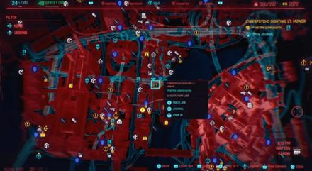 Cyberpunk 2077 Cyberpsycho Sighting Lt. Mower Map.png