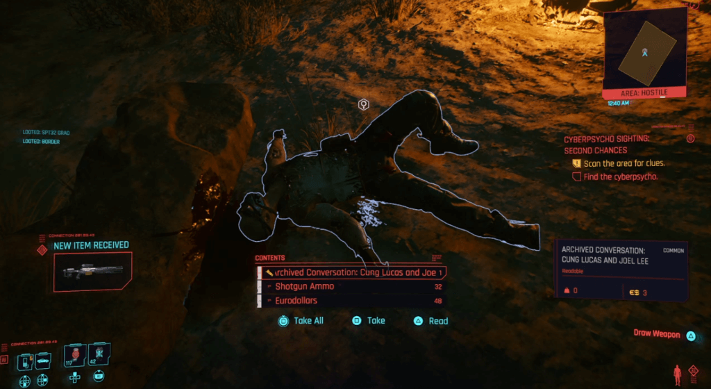 Cyberpunk 2077 Cyberpsycho Sighting Second Chances 01.png