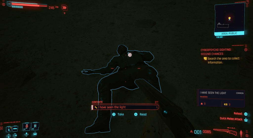 Cyberpunk 2077 Cyberpsycho Sighting Second Chances 03.png