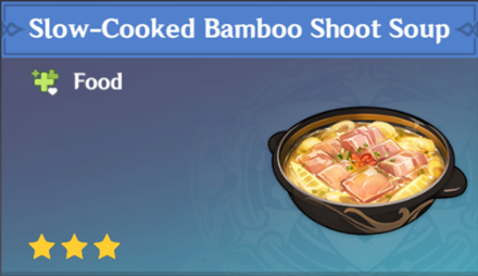 How to Get Slow-Cooked Bamboo Shoot Soup and Effects