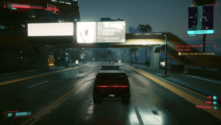 Cyberpunk 2077 - Deliver the SUV to the Nomads