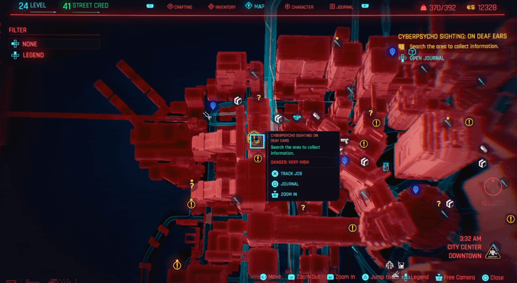Cyberpunk 2077 Cyberpsycho Sighting On Deaf Ears Map.png