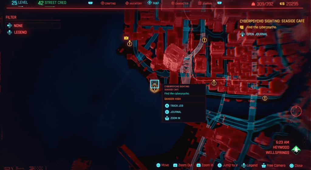 Cyberpunk 2077 Cyberpsycho Sighting Seaside Cafe Map.png