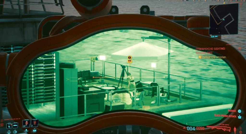 Cyberpunk 2077 Cyberpsycho Sighting Seaside Cafe 01.png