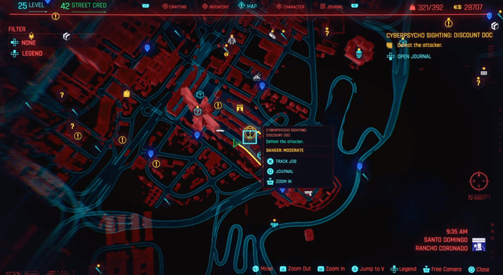 Cyberpunk 2077 Cyberpsycho Sighting Discount Doc Map.png