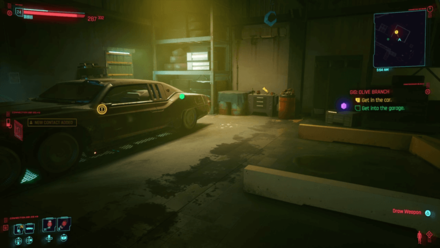 Cyberpunk 2077 - Get into the garage