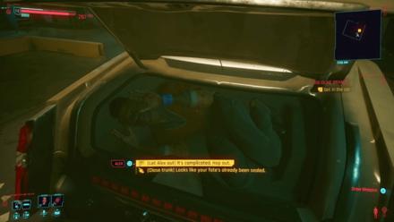 Cyberpunk 2077 - Talk to the man in the trunk