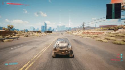 Cyberpunk 2077 - Drive vehicle to Badlands garage