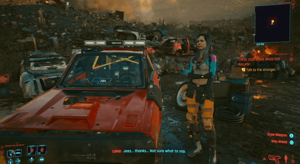 Cyberpunk 2077 These Boots Are Made For Walkin