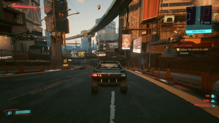Cyberpunk 2077 - Deliver vehicle to Jake Estevez