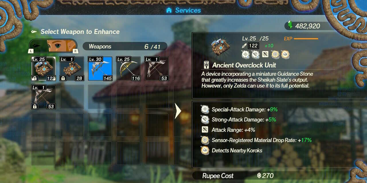Zelda Maxed Out Overclock Unit