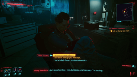 Cyberpunk 2077 - Talk to Chang Hoon Nam