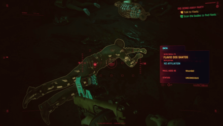 Cyberpunk 2077 - Scan the bodies to find Flavio