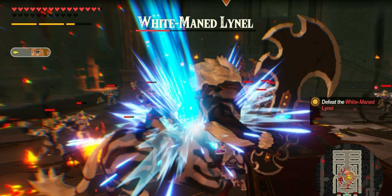 Link vs White-Maned Lynel