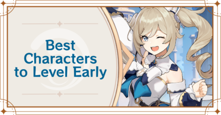 Genshin Impact - Best Characters to Level Early Banner