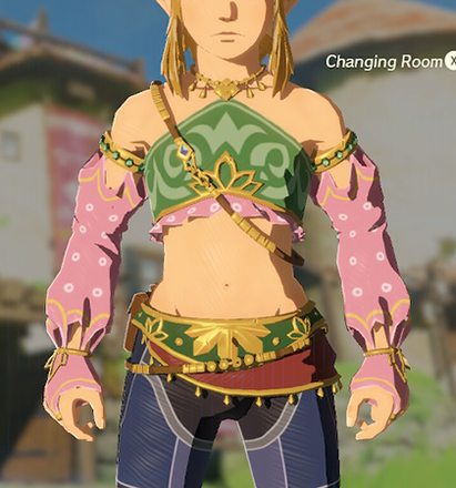 Gerudo Top Peach