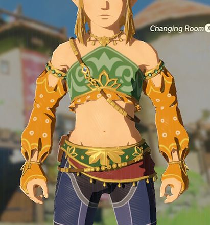 Gerudo Top Orange