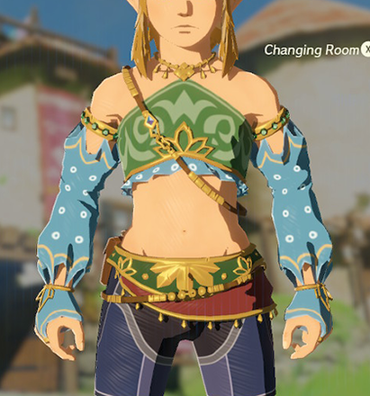 Gerudo Top Light Blue