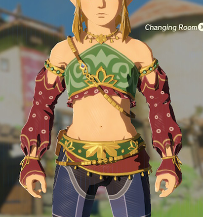 Gerudo Top Crimson