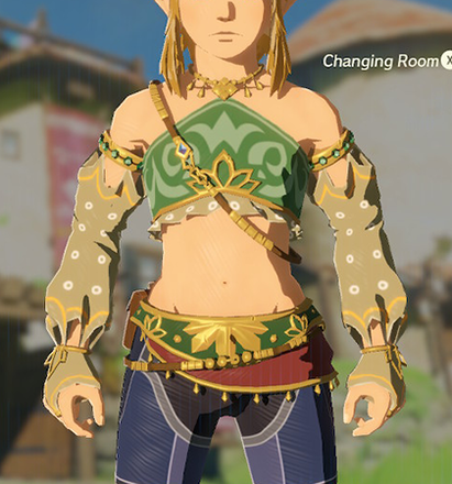 Gerudo Top Light Yellow