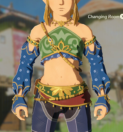 Gerudo Top Blue