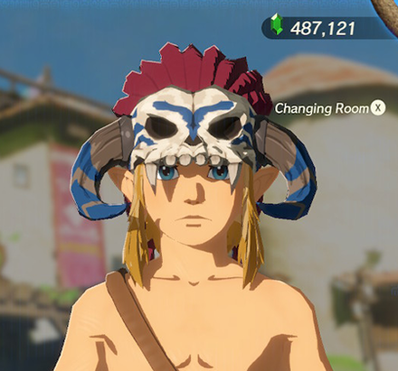 Barbarian Helm Blue