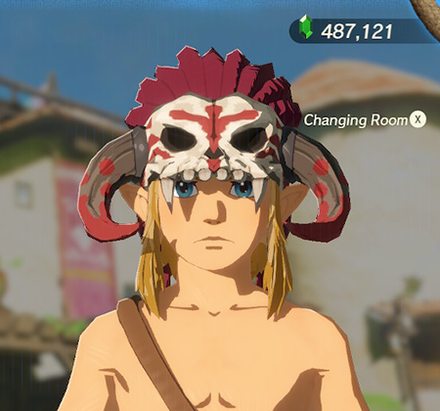 Barbarian Helm Red