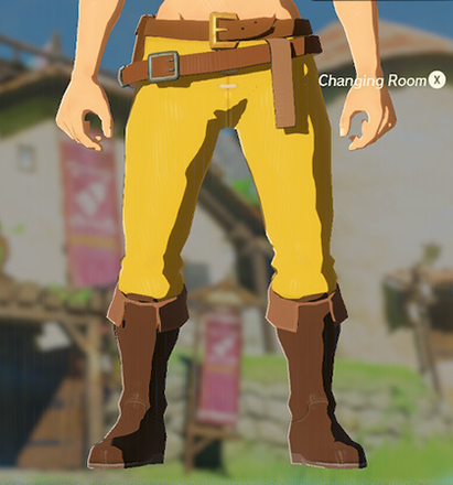Hylian Trousers Yellow