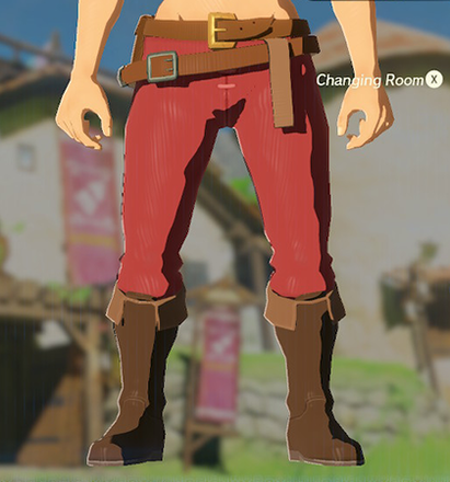 Hylian Trousers Red