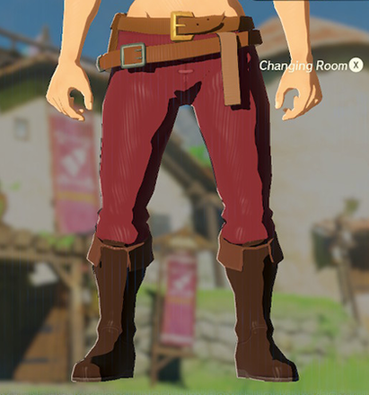 Hylian Trousers Crimson