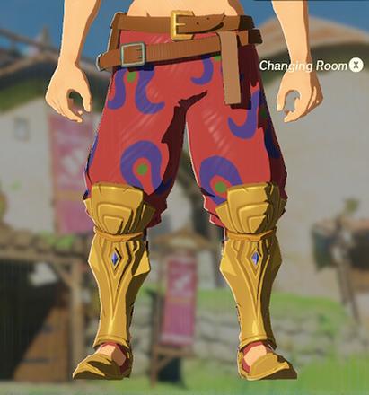 Desert Voe Trousers Red
