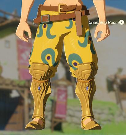 Desert Voe Trousers Yellow