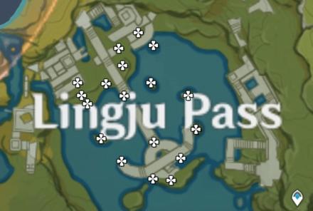 Карта железной монеты - перевал Линджу
