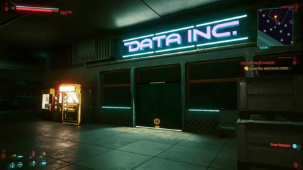 Cyberpunk 2077 - Enter the electronics store