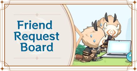 Genshin Impact - Friend Request Board