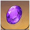 Genshin Impact - Vajrada Amethyst Gemstone Image