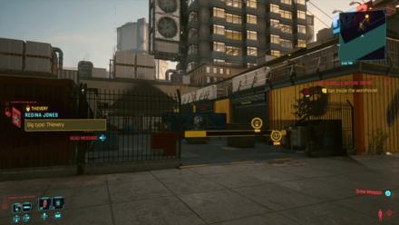 Cyberpunk 2077 - Get inside the warehouse
