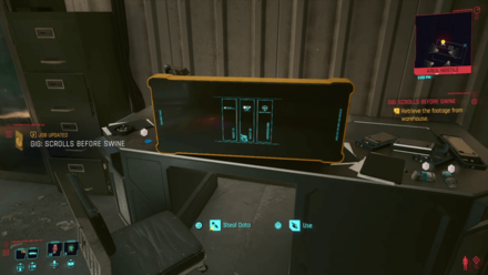 Cyberpunk 2077 - Retrieve the footage from the warehouse