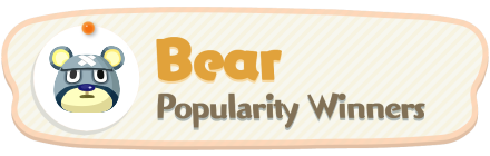 ACNH - Bear Popularity Winners