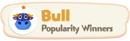 ACNH - Bull Popularity Winners
