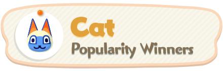 ACNH - Cat Popularity Winners