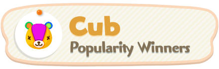ACNH - Cub Popularity Winners